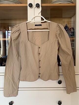 Taş rengi bluz