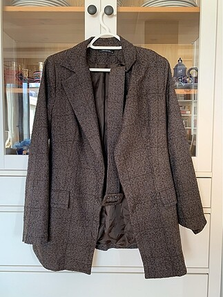 Ekoseli blazer ceket