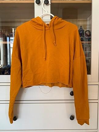 Hardal kapşonlu sweatshirt