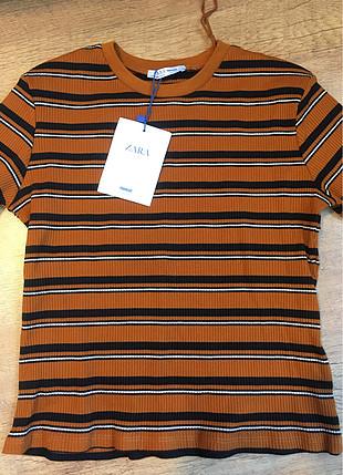 Zara turuncu tişört
