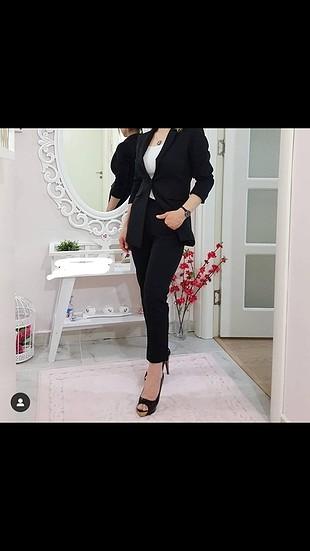 s Beden siyah Renk ceket pantolon takım