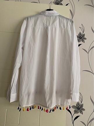 m Beden beyaz Renk Gömlek