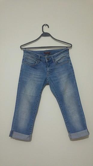 mavi diz alti pantolon