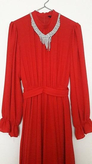 Diğer kırmızı tesettür elbise