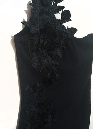 36 Beden siyah Renk Elbise