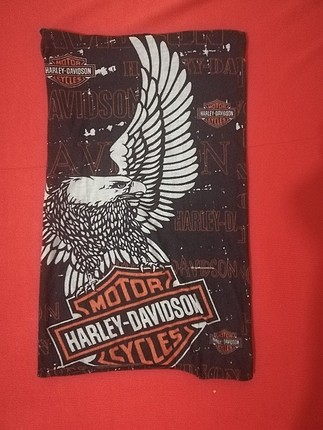 harley Davidson desenli boyunluk&bandana;