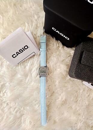Casio gümüş buz mavisi sıfır saat