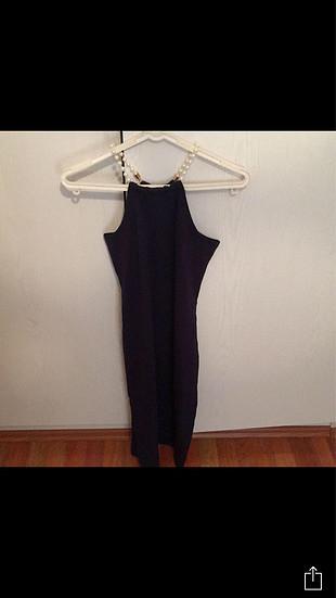 İnci detay elbise