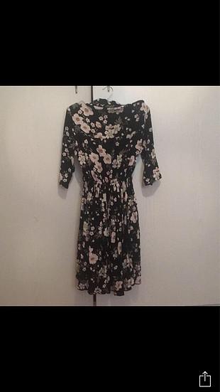 xs Beden çeşitli Renk Çiçekli elbise