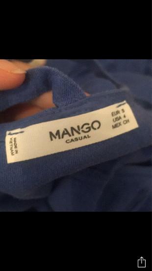 s Beden mavi Renk Keten elbise