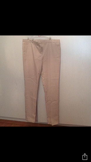 Krem kumaş pantolon