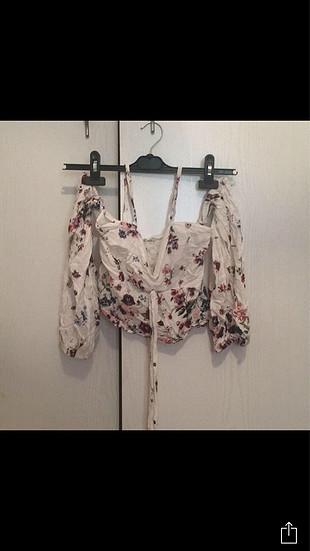 Diğer Çiçekli kısa bluz
