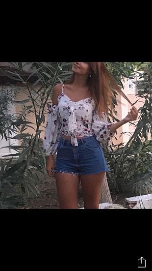 l Beden çeşitli Renk Çiçekli kısa bluz
