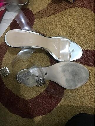 Diğer Şefaf topuk ayakkabı