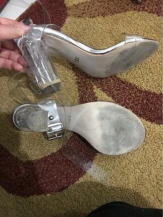 35 Beden Şefaf topuk ayakkabı