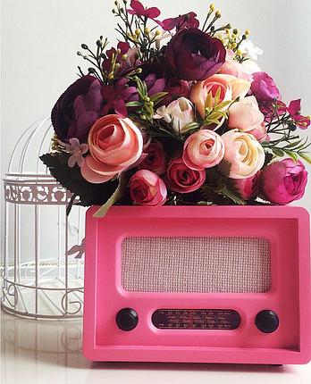 Nostaljik retro pembe radyo