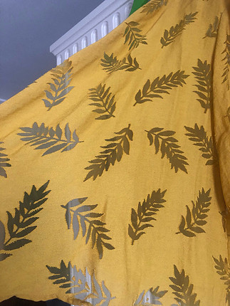 Hardal sarısı kimono