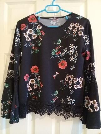 bluz çiçekli
