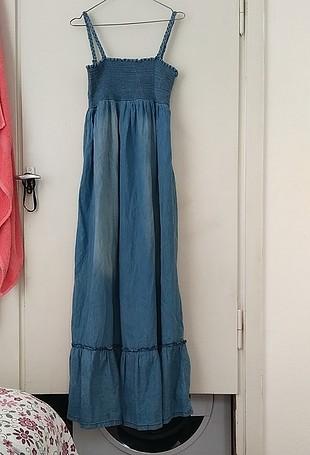 uzun kot elbise