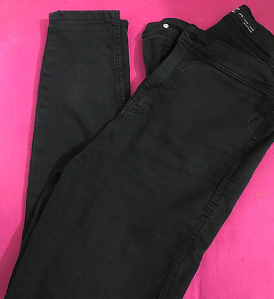 m Beden bershka siyah kot pantolon