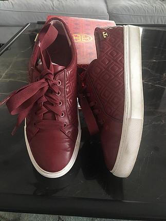 Tory Burch orijinal 37.5 no gerçek deri sneaker