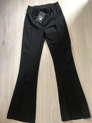 s Beden İspanyol paça yırtmaçlı pantolon