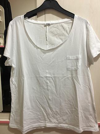 Beyaz Oversize Basic Tişört