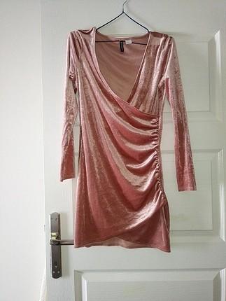 H&m kadife elbise 36 38 beden