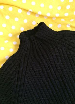 Siyah balıkçı yaka elbise
