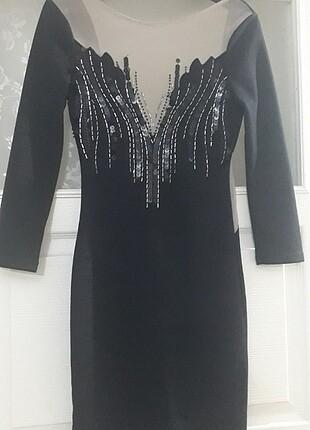 YURTDIŞI LİPSY MARKA Çok Şık Transparan Model Elbise