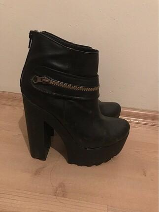 38 Beden siyah Renk Sorunsuz topuklu ayakkabı