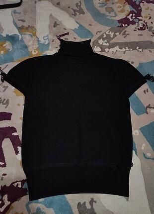 Çok şık triko bluz bir yada iki kez giyildi iki kol arası 46 cm