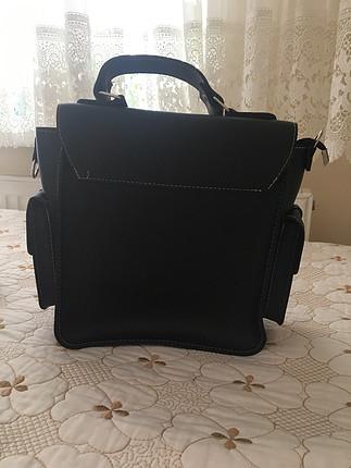 Zara siyah yan çanta