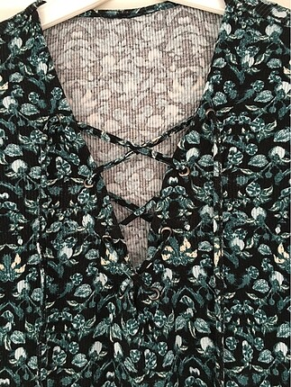 Vintage Love Bağcıklı bluz