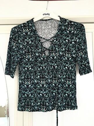 s Beden siyah Renk Bağcıklı bluz