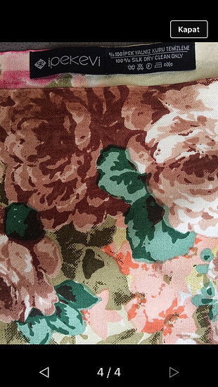 universal Beden çeşitli Renk İpekevi marka çiçek desenli şal