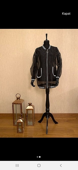 transparan uzun ceket
