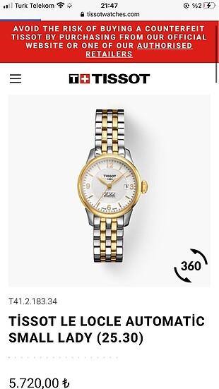 Tissot Gold Kadın Saat