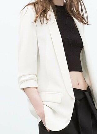 Beyaz blazer