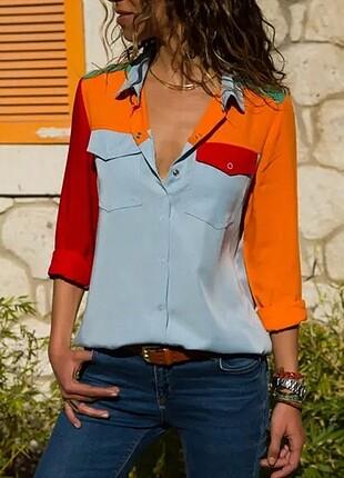 Alaçatı stili gömlek