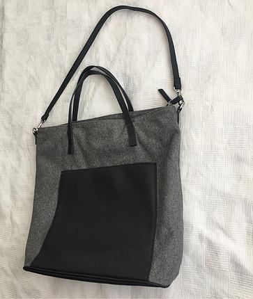 universal Beden Mango gri çanta
