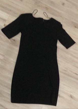 H&M hm siyah kısa elbise