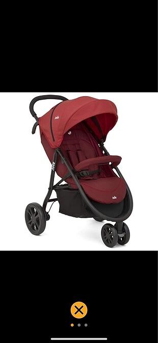 Joie 3 teker kırmızı bebek arabası