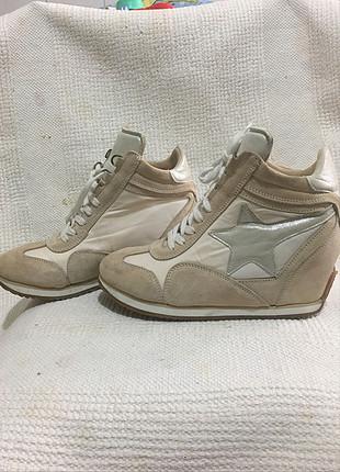 38 Beden ten rengi Renk Gizli topuklu spor ayakkabı