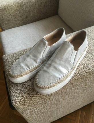 zara gümüş ayakkabı