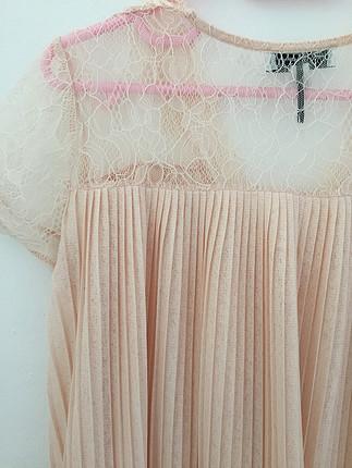 s Beden pembe Renk İpekyol dantel detaylı bluz