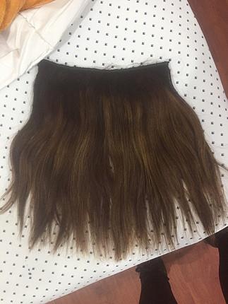 gerçek saç yarım ay