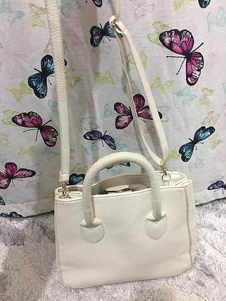 diğer Beden Koton beyaz çanta