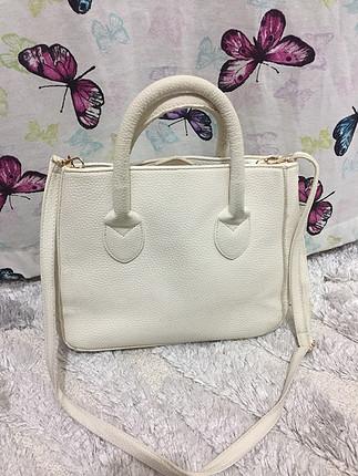 diğer Beden beyaz Renk Koton beyaz çanta
