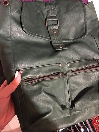 Beden haki Renk Deri çanta